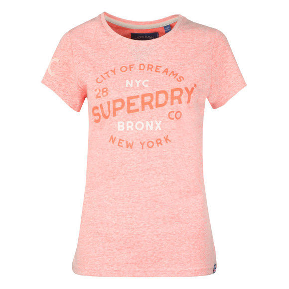 Superdry Womens Orange City of Dreams Entry Tee main image