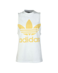 Adidas Originals Womens White Trefoil Tank