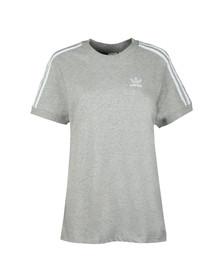 Adidas Originals Womens Grey 3 Stripes Tee