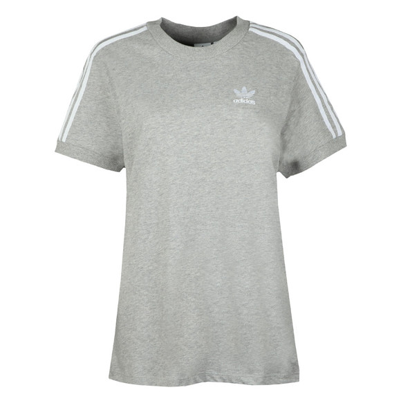 Adidas Originals Womens Grey 3 Stripes Tee main image