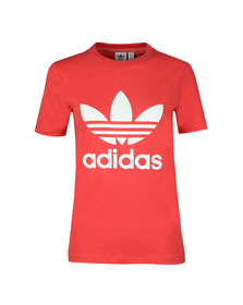 adidas Originals Womens Orange Trefoil T Shirt