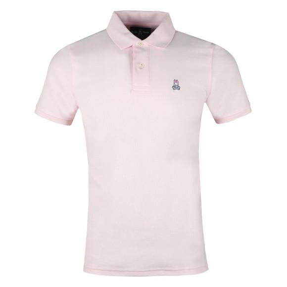 Psycho Bunny Mens Pink Classic Polo Shirt main image