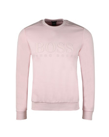 BOSS Green Mens Pink Salbo Crew Sweatshirt