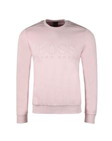 Boss Green Mens Pink Salbo Crew Sweatshirt
