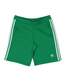 Adidas Originals Mens Green 3 Stripes Sweat Short