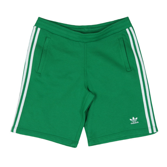 Adidas Originals Mens Green 3 Stripes Sweat Short main image