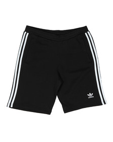 Adidas Originals Mens Black 3 Stripes Sweat Short