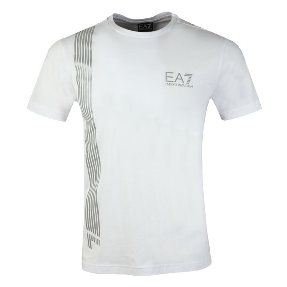 EA7 Emporio Armani Mens White 3ZPT70 T Shirt main image