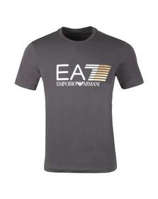 EA7 Emporio Armani Mens Black Visibility Large Logo T-Shirt
