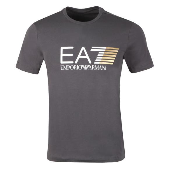 EA7 Emporio Armani Mens Black Visibility Large Logo T-Shirt main image