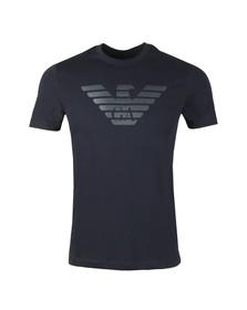 Emporio Armani Mens Blue Reverse Logo T-Shirt