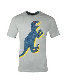 Paul Smith Mens Grey S/S Dino Print Tee