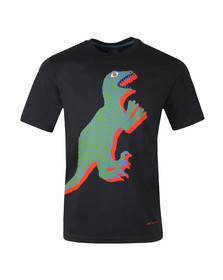 PS Paul Smith Mens Blue S/S Dino Print Tee