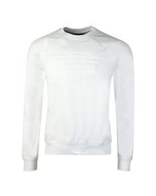 Emporio Armani Mens White Large Logo Sweatshirt