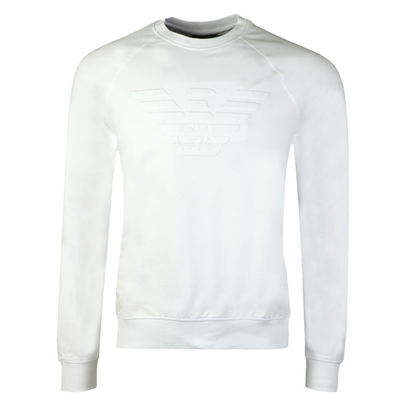 Emporio Armani Mens White Large Logo Sweatshirt main image
