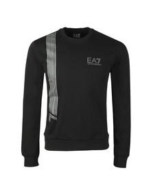 EA7 Emporio Armani Mens Black 7 Lines Crew Sweatshirt