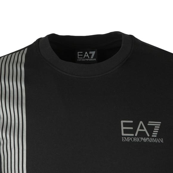 EA7 Emporio Armani Mens Black 7 Lines Crew Sweatshirt main image