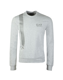 EA7 Emporio Armani Mens Grey 7 Lines Crew Sweatshirt