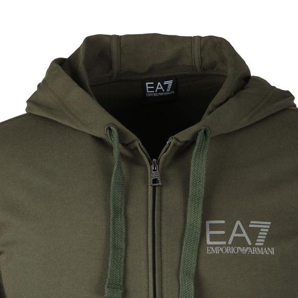 EA7 Emporio Armani Mens Green Reflective Logo Full Zip Tracksuit main image