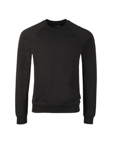 Emporio Armani Mens Black Large Logo Sweatshirt
