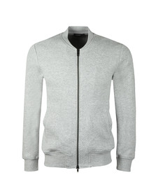 J.Lindeberg Mens Grey Randall Pattern Jacquard Sweat
