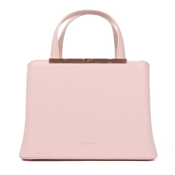 Ted Baker Womens Pink Naomii Smooth Leather Tote Bag main image