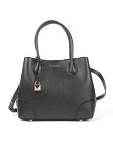 Michael Kors Womens Black Mercer Gallery Centre Zip Tote