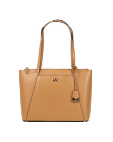 Michael Kors Womens Brown Maddie Mid East West Tote Bag