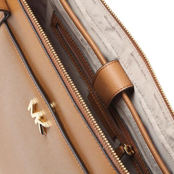 Michael Kors Womens Brown Maddie Mid East West Tote Bag main image