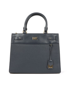 Michael Kors Womens Blue Reagan Large Satchel