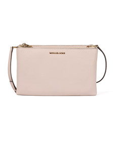 Michael Kors Womens Pink Adele Double Zip Crossbody