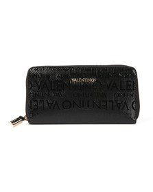 Valentino by Mario Womens Black Clove Zip Around Purse