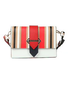 Valentino by Mario Womens White Nautica Mid Satchel