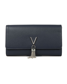 Valentino by Mario Womens Blue Divina SA Clutch
