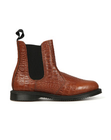 Dr Martens Womens Brown New Vibrance Croco Flora Boot