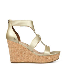 Ugg Womens Gold Whitney Metallic Wedge