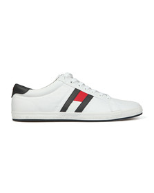 Tommy Hilfiger Mens White Flag Trainer
