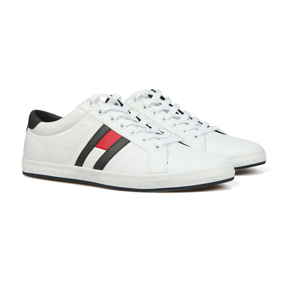 Tommy Hilfiger Mens White Flag Trainer main image