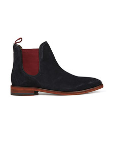 Oliver Sweeney Mens Blue Allegro Suede Boot