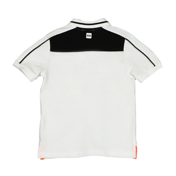 Boss Boys White Boys J25C07 Logo Polo Shirt main image