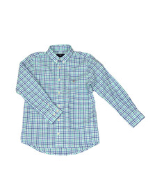 Gant Boys Turquoise 3 Colour Broadcloth Shirt
