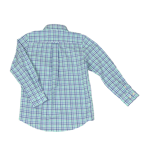 Gant Boys Turquoise 3 Colour Broadcloth Shirt main image