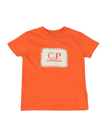 C.P. Company Undersixteen Boys Orange Stamp Logo T Shirt