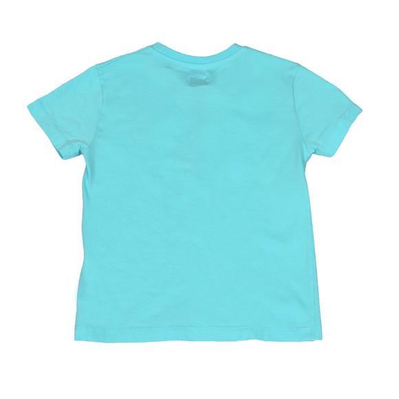 CP Company Undersixteen Boys Blue Stamp Logo T Shirt main image