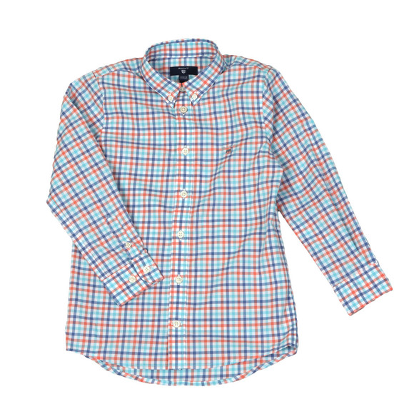 Gant Boys Orange 3 Colour Broadcloth Shirt main image