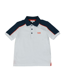 BOSS Bodywear Boys White J28060 Polo & Short Set