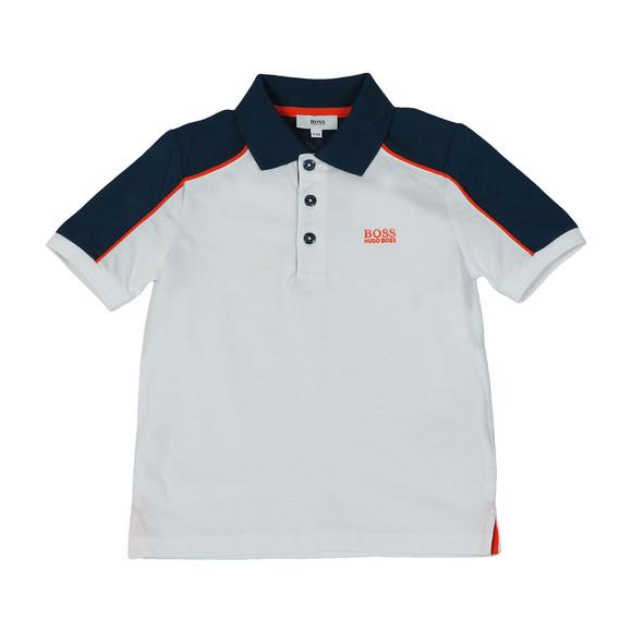 BOSS Bodywear Boys White J28060 Polo & Short Set