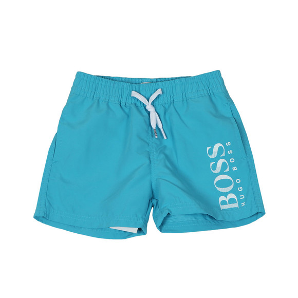 BOSS Baby Boys Blue J04310 Logo Swim Shorts main image