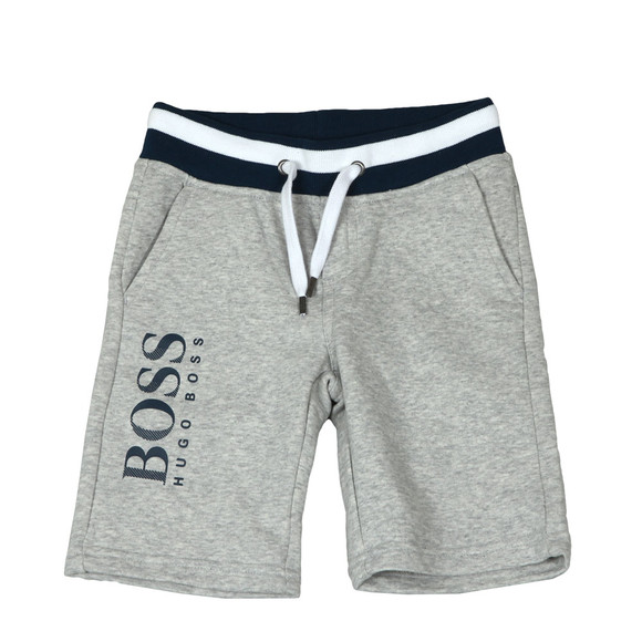 Boss Boys Grey Boys J24552 Logo Jogger Short main image