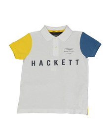 Hackett Boys White Boys AMR Multi Polo Shirt
